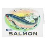 Red Salmon - Vintage Food Crate Label