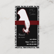 Red Salon businesscards and appointment