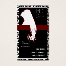 Red Salon businesscards and appointment Business Card