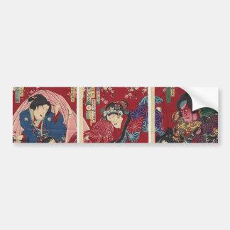 Red Samurai Bumper Sticker