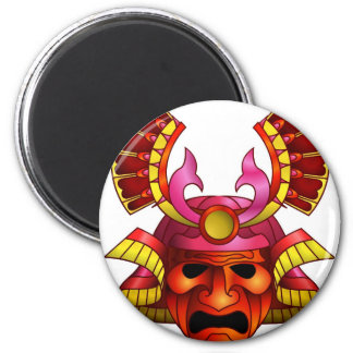 Red samurai mask fridge magnets