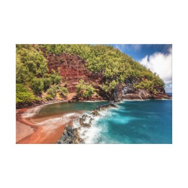 Red Sand Beach Maui Canvas Print