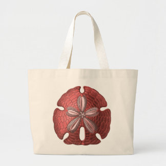 Red Sand Dollar Canvas Bag