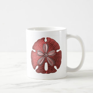 Red Sand Dollar Coffee Mug