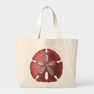 Red Sand Dollar Jumbo Tote Bag