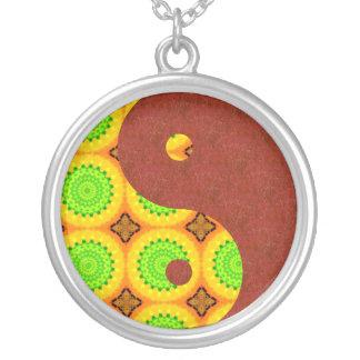 Red Sand Green Light Yin Yang Custom Necklace