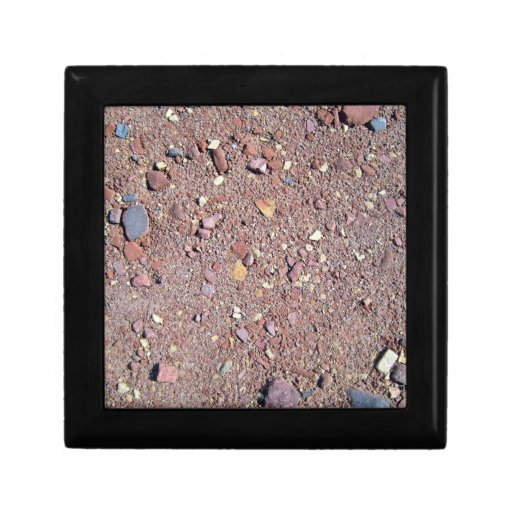Red Sand Texture with Stones Keepsake Boxes