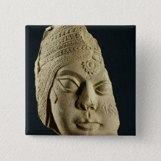 Red sandstone head of Yakshi, Bharhut, 2nd century Button
