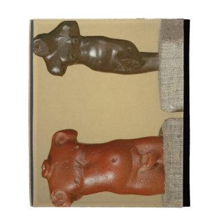 Red sandstone male torso and grey sandstone dancer iPad folio cover