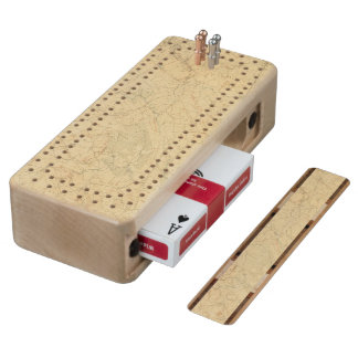 Red Sandstone, New Jersey 2 Maple Cribbage Board