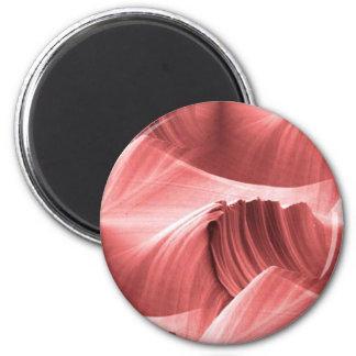 red_sandstone_scape imán redondo 5 cm