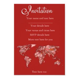 Red sandy atlas card