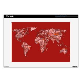 "Red sandy atlas 15"" laptop decal"