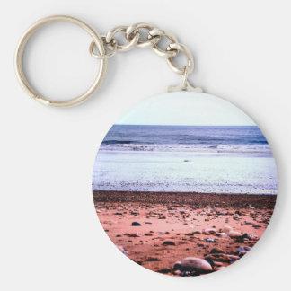 Red Sandy 'Martian' Landscape Basic Round Button Keychain