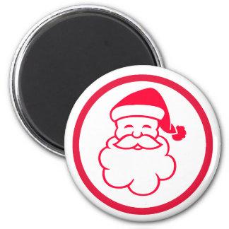 Red Santa Claus 2 Inch Round Magnet