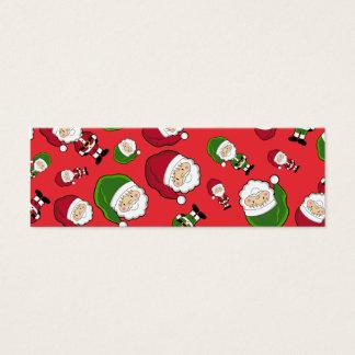 Red Santa Claus Repeat Bookmark Mini Business Card