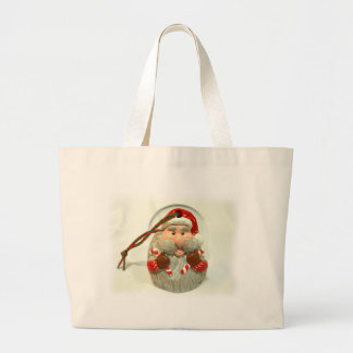 Red Santa Large Tote Bag