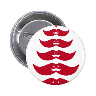 Red Santa mustache Christmas tree Pin