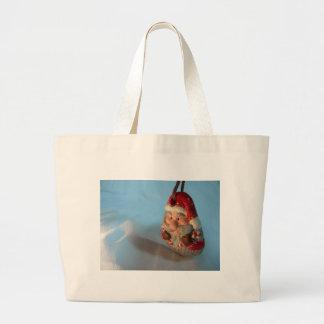 Red Santa Ornament Large Tote Bag