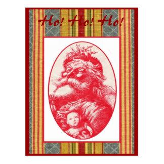 Red Santa Postcard