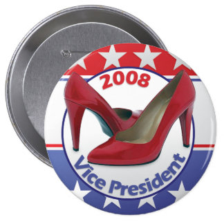 Red Sarah Palin Pumps Pinback Button