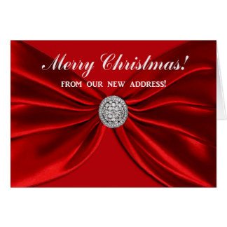 Red Sash, Merry Christmas from our new home! Card