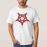 Red Satanic Spotted Pentagram Shirt