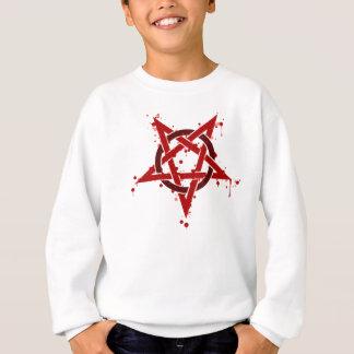 Red Satanic Spotted Pentagram Sweatshirt