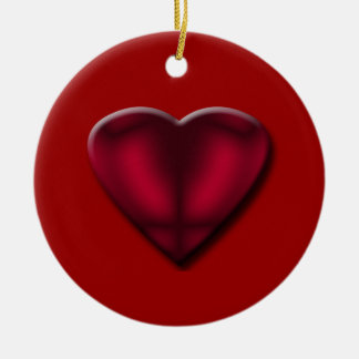 Red Satin Heart Ornament