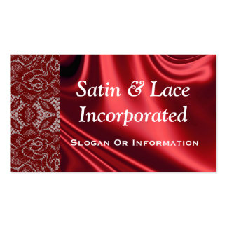 Red Satin & Lace Business Cards