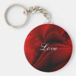 Red Satin Love Keychain