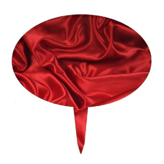Red Satin / Silk Cake Pick
