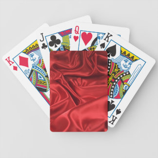 Red Satin / Silk Bicycle Playing Cards