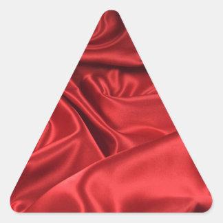 Red Satin / Silk Triangle Sticker