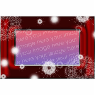 Red Satin snowflake picture frame Statuette