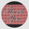 Red Satin Thank You Seals / Stickers sticker