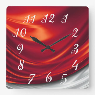 Red Satin Wall Clock