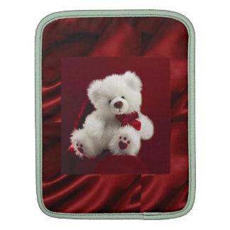 Red Satin white Teddy bear  Rickshaw Sleeve