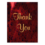 Red satin with drops theme post cards