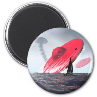 Red Saucer Attack Magnet