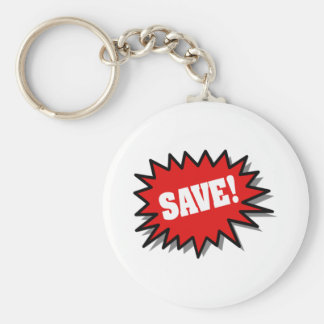 Red Save Key Chain