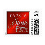 Red Save the Date Stamp