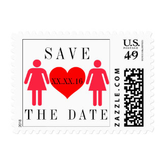Red Save the Date Stamps
