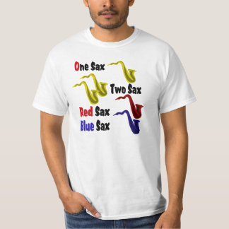 Red Sax Blue Sax T-Shirt