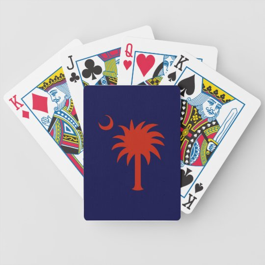 Red SC Palmetto Tree Playing Cards