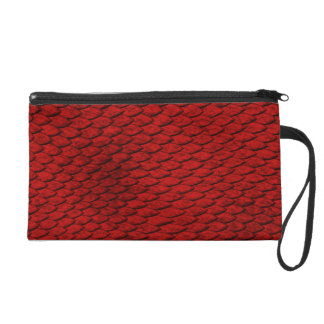 Red Scales Wristlet