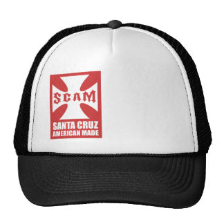Red SCAM Cross Trucker Hats