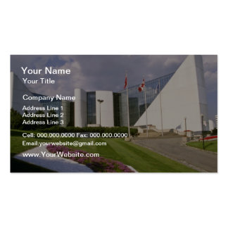 Red Scarborough Civic Center, Ontario, Canada flow Business Cards