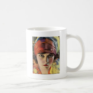 Red Scarf Gypsy Lady Coffee Mug