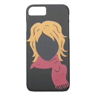Red Scarf Woman iPhone 7 Case